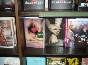 It was a huge thrill to see my book on the B&N shelves.